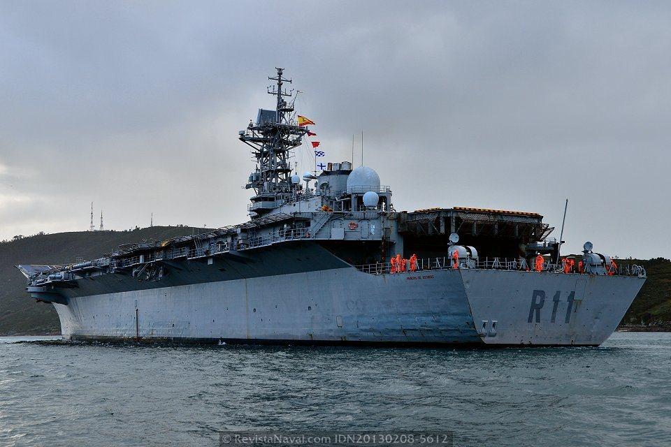 Vista desde la aleta de babor (Foto: Xoán Porto/Revista Naval)