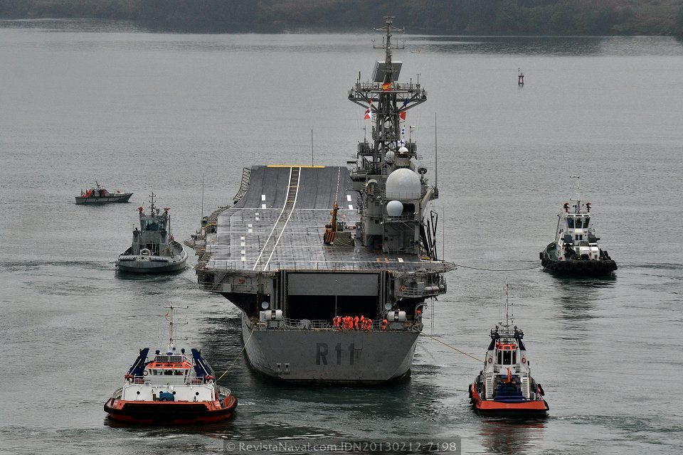 Vista análoga del portaviones «Príncipe de Asturias»(Foto: Xoán Porto/Revista Naval)