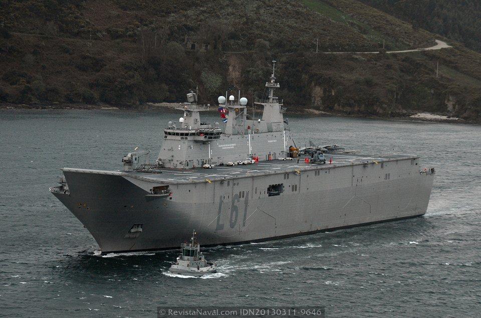 El buque fue lanzado el 10 de marzo de 2008 en el astillero de Navantia Ferrol (Foto: Xoán Porto/Revista Naval)
